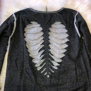 Razor cut heart shaped sweatshirt